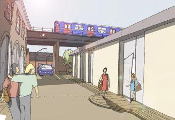 Phase 3. Architects Drawings - 3 - Foundry Lane Towards The Bridge