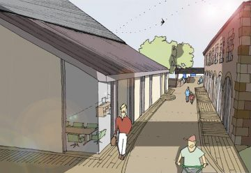 Phase 3. Architects Drawings - 4 - Foundry Lane Towards The Site Entrace