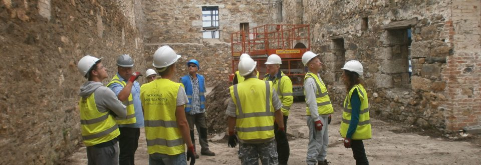 Harvey's Foundry Trust | First wave of apprentices are welcomed onto historic building project in Hayle