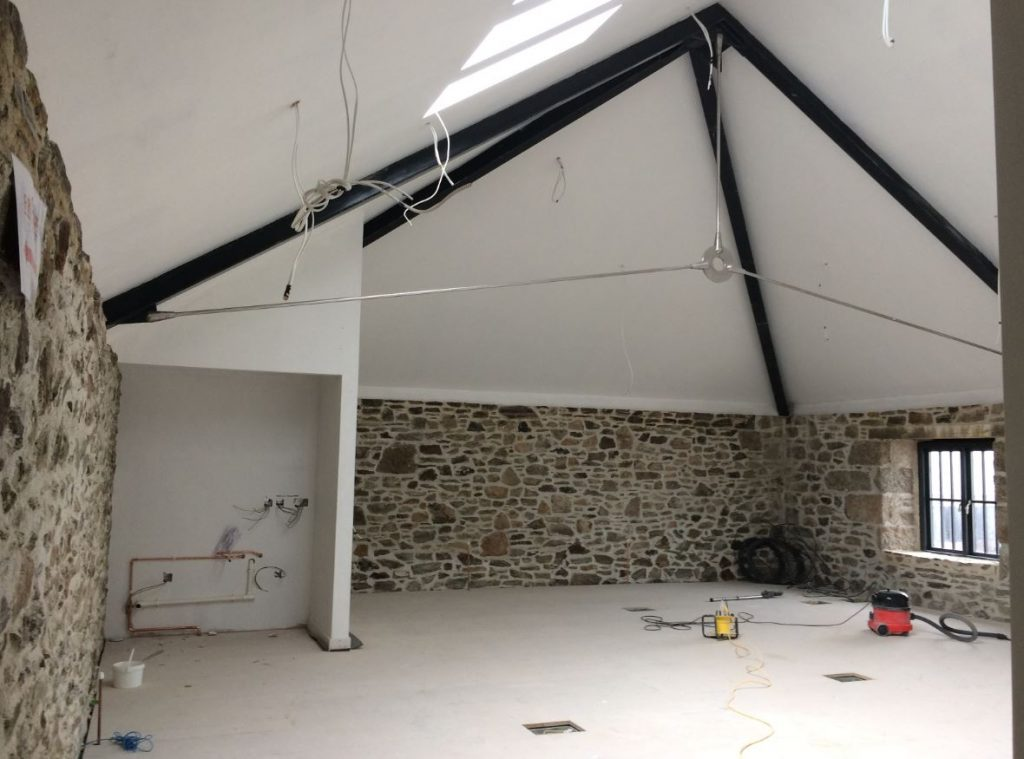 Inside the offices are beginning to take shape